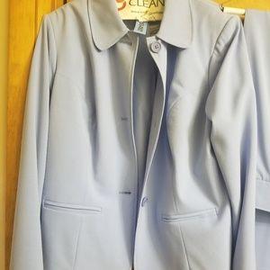 Baby blue pant suit